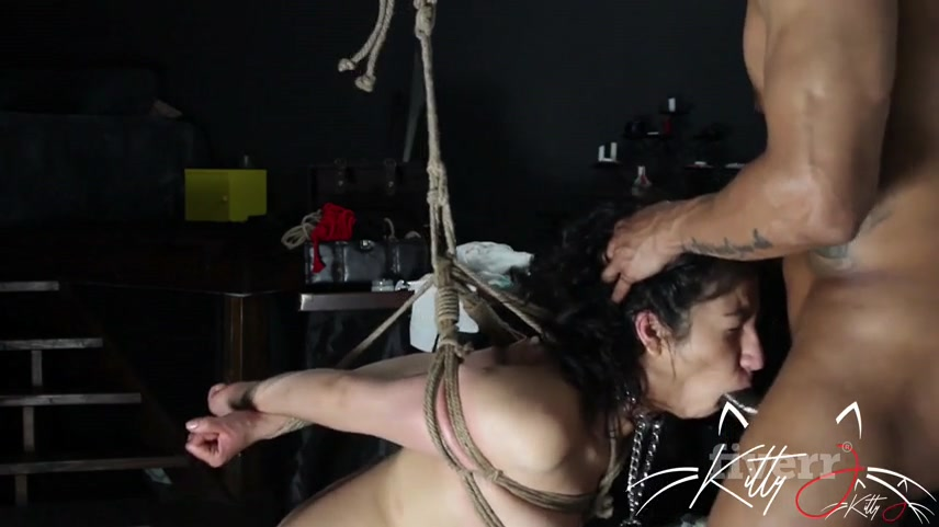 forced anal training session for tied up whore kitty 1 q1